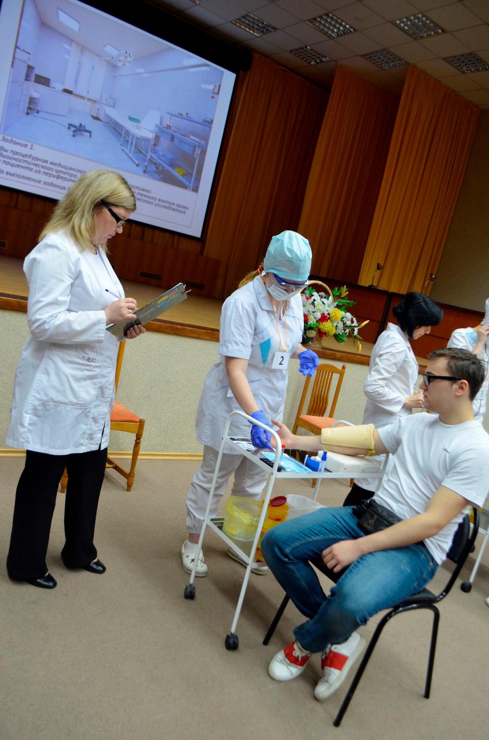 Конкурс профессионального мастерства среди студентов 2 курса медицинского колледжа филиала «Медицинская эстафета»