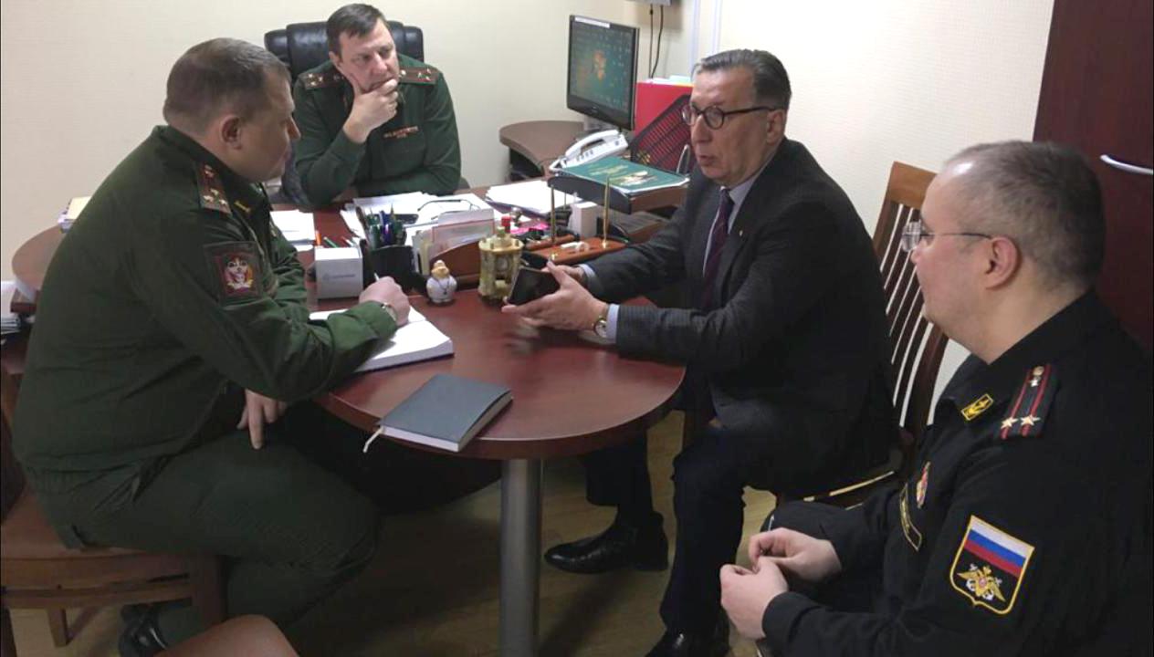 Посещение филиала Военно-медицинской академии председателем аккредитационной комиссии Минздрава России по г.Москве профессором Ш.М. Гайнулиным